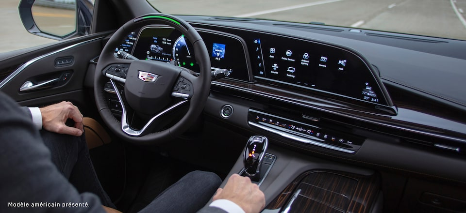 The Cadillac interior, features groundbreaking innovation.