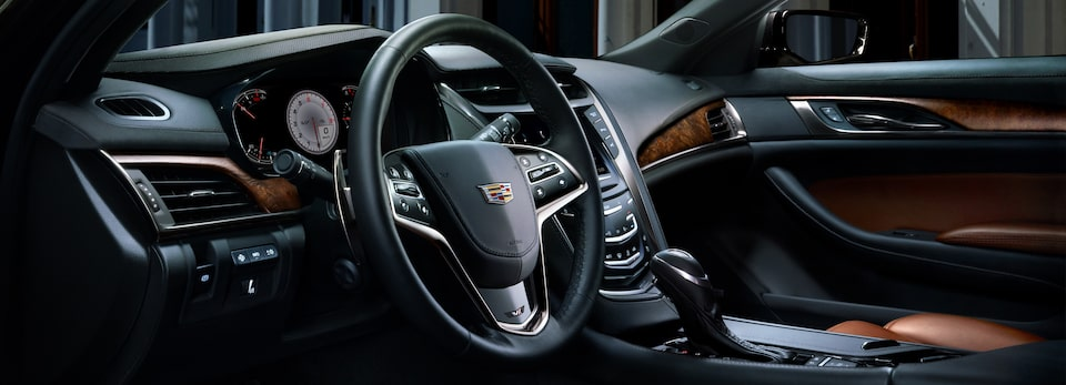 Interior of the 2019 Cadillac CTS mid-size luxury sedan.