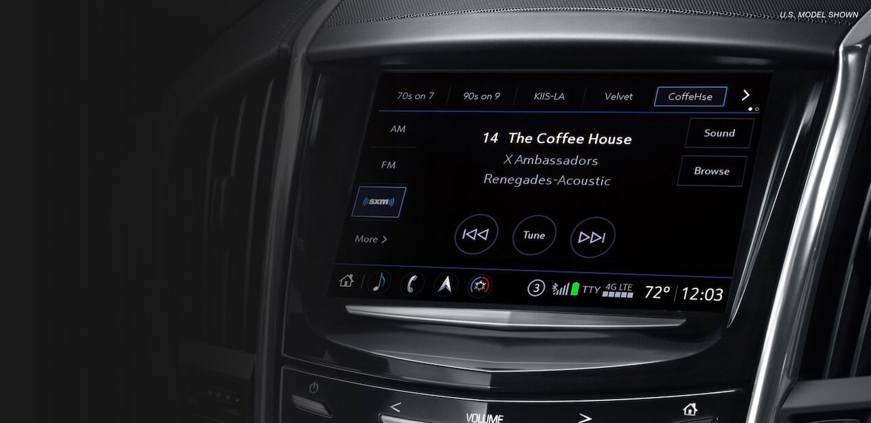 The Cadillac User Experience is personalized to your profile.