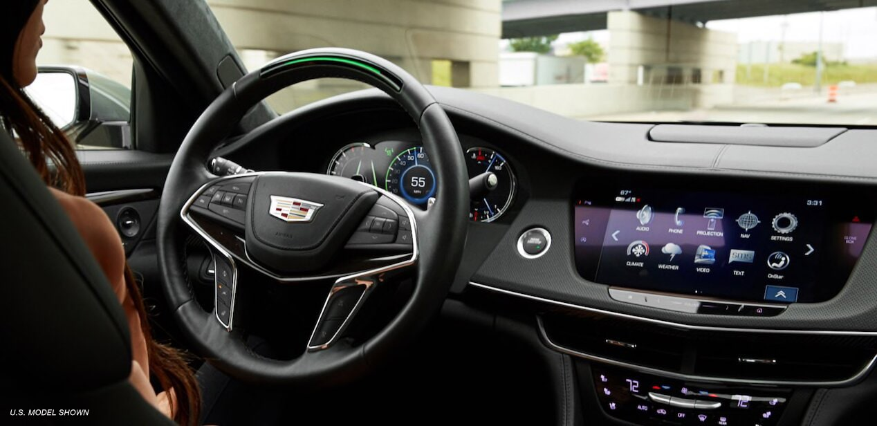 Cadillac Super Cruise feature: the first true hands-free driving system for the highway.