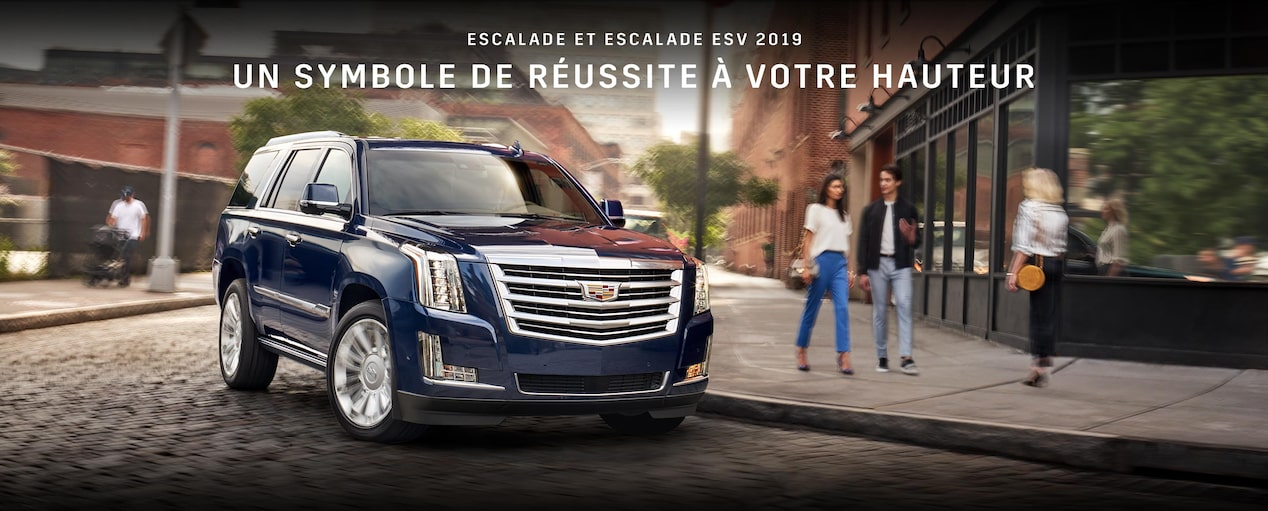 Exterior of the 2019 Cadillac Escalade full-size luxury SUV.