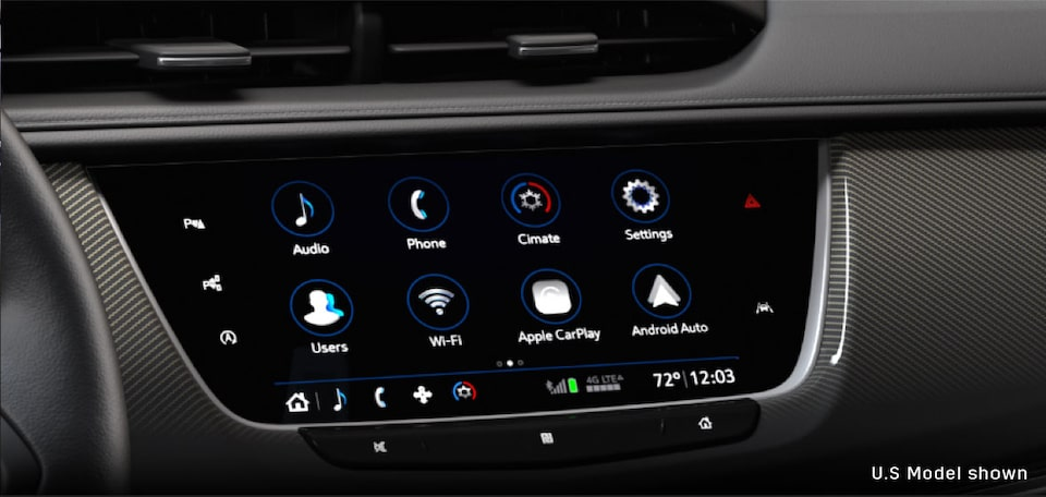 Infotainment System Display In The 2020 Cadillac XT6 7 Passenger Luxury SUV.