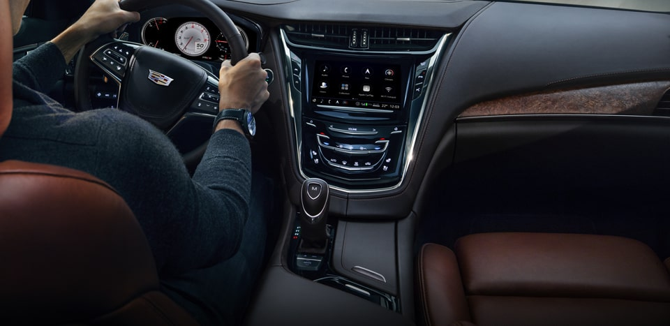 Cadillac CTS mid-size luxury sedan's available enhanced Ambient Interior Lighting.